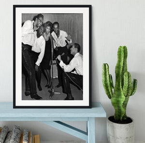 Smokey Robinson and the Miracles Framed Print - Canvas Art Rocks - 1