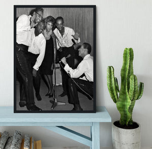 Smokey Robinson and the Miracles Framed Print - Canvas Art Rocks - 2