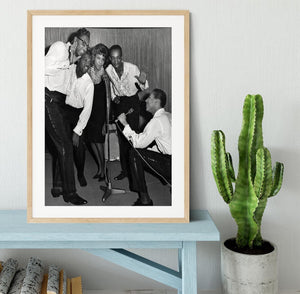 Smokey Robinson and the Miracles Framed Print - Canvas Art Rocks - 3