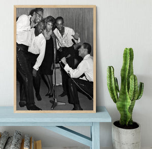 Smokey Robinson and the Miracles Framed Print - Canvas Art Rocks - 4