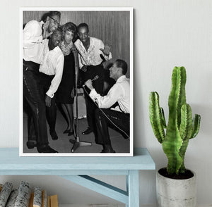 Smokey Robinson and the Miracles Framed Print - Canvas Art Rocks -6