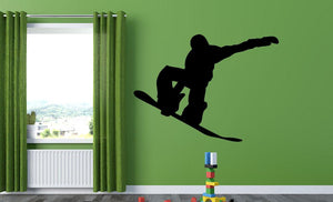 Snow Boarder Wall Sticker - Canvas Art Rocks