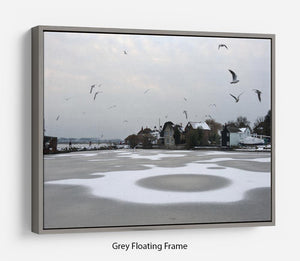 Snow Circles Floating Frame Canvas - Canvas Art Rocks - 3
