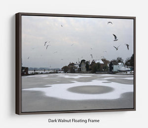 Snow Circles Floating Frame Canvas - Canvas Art Rocks - 5