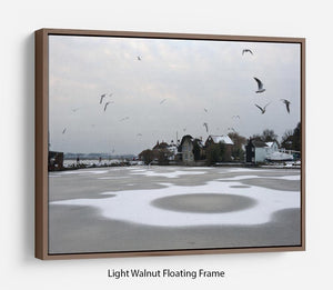 Snow Circles Floating Frame Canvas - Canvas Art Rocks 7
