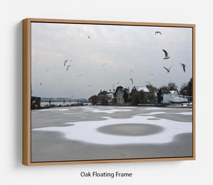 Snow Circles Floating Frame Canvas - Canvas Art Rocks - 9