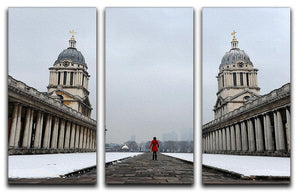 Snow in Greenwich 3 Split Panel Canvas Print - Canvas Art Rocks - 1