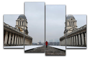 Snow in Greenwich 4 Split Panel Canvas - Canvas Art Rocks - 1