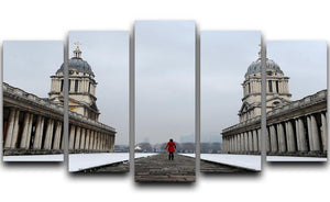 Snow in Greenwich 5 Split Panel Canvas - Canvas Art Rocks - 1