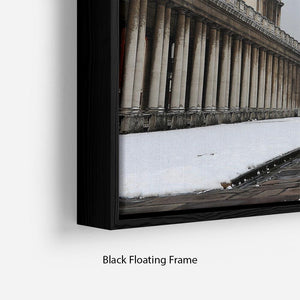 Snow in Greenwich Floating Frame Canvas - Canvas Art Rocks - 2