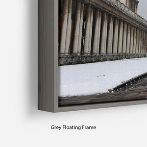 Snow in Greenwich Floating Frame Canvas - Canvas Art Rocks - 4