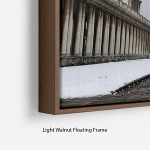 Snow in Greenwich Floating Frame Canvas - Canvas Art Rocks - 8