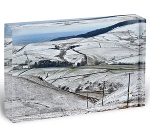 Snow in the Peak District Acrylic Block - Canvas Art Rocks - 1
