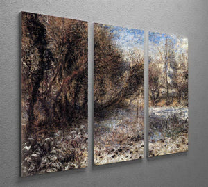 Snowy landscape by Renoir 3 Split Panel Canvas Print - Canvas Art Rocks - 2