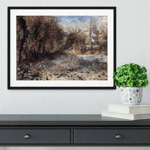 Snowy landscape by Renoir Framed Print - Canvas Art Rocks - 1
