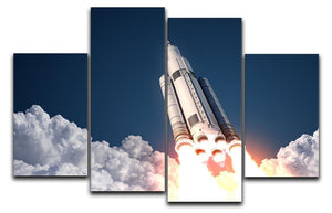 Space Launch System Takes Off 4 Split Panel Canvas  - Canvas Art Rocks - 1