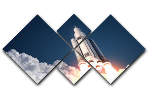 Space Launch System Takes Off 4 Square Multi Panel Canvas  - Canvas Art Rocks - 1