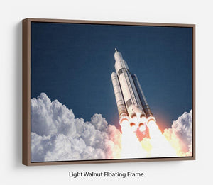 Space Launch System Takes Off Floating Frame Canvas