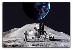 Space Man On The Moon Canvas Print or Poster  - Canvas Art Rocks - 1