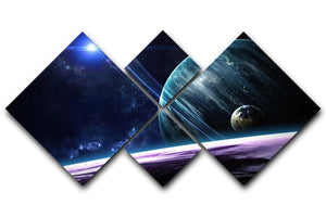 Space Planets 4 Square Multi Panel Canvas  - Canvas Art Rocks - 1