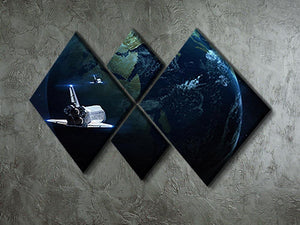 Space Shuttle Flying Back To Earth 4 Square Multi Panel Canvas - Canvas Art Rocks - 2