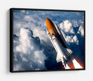 Space Shuttle Launch In The Clouds HD Metal Print