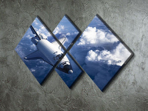 Space Shuttle in the Clouds 4 Square Multi Panel Canvas - Canvas Art Rocks - 2
