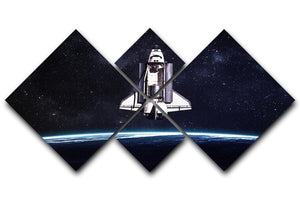 Space Shuttle on a mission 4 Square Multi Panel Canvas  - Canvas Art Rocks - 1