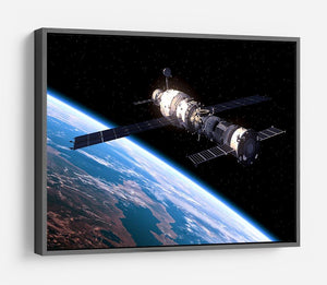 Space Station In Space HD Metal Print