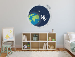 Space Window Wall Sticker - Canvas Art Rocks