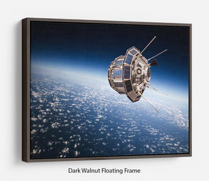 Space satellite orbiting the earth Floating Frame Canvas