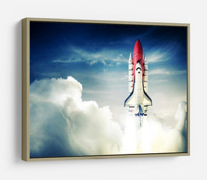 Space shuttle taking off on a mission HD Metal Print