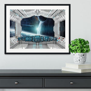 Spaceship Control Center Framed Print - Canvas Art Rocks - 1