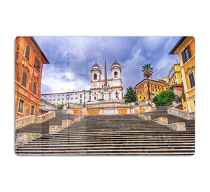 Spanish Steps and Trinita dei Monti church HD Metal Print