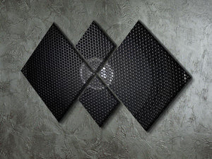 Speaker grill 4 Square Multi Panel Canvas  - Canvas Art Rocks - 2