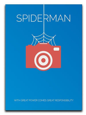 Spiderman Minimal Movie Canvas Print or Poster  - Canvas Art Rocks - 1