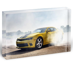 Sport Car Drifting Acrylic Block - Canvas Art Rocks - 1