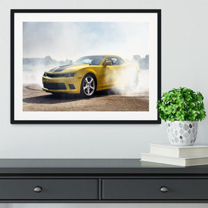 Sport Car Drifting Framed Print - Canvas Art Rocks - 1