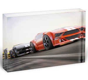 Sport Cars Racing Acrylic Block - Canvas Art Rocks - 1