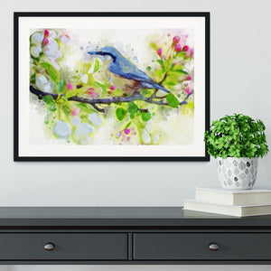 Spring Bird Framed Print - Canvas Art Rocks - 1