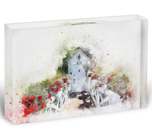Spring Door Acrylic Block - Canvas Art Rocks - 1