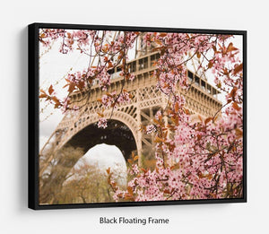 Spring in Paris Floating Frame Canvas
