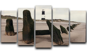 Spurn Point Lighthouse 5 Split Panel Canvas - Canvas Art Rocks - 1