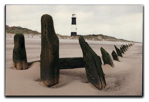 Spurn Point Lighthouse Canvas Print or Poster - Canvas Art Rocks - 1