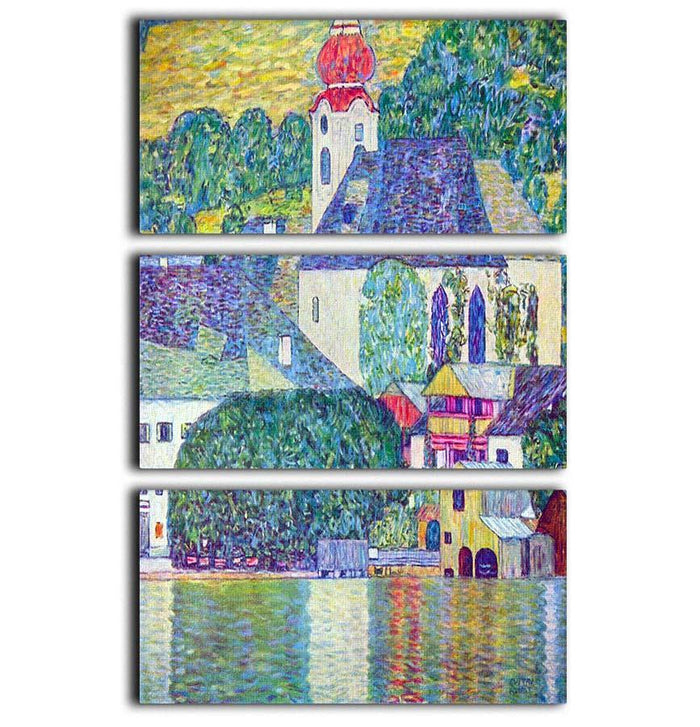St. Wolfgang Church by Klimt 3 Split Panel Canvas Print