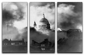 St Pauls Survives 3 Split Panel Canvas Print - Canvas Art Rocks - 1