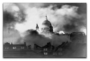 St Pauls Survives Canvas Print or Poster  - Canvas Art Rocks - 1