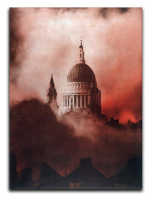 St Pauls Survives in colour Canvas Print or Poster  - Canvas Art Rocks - 1