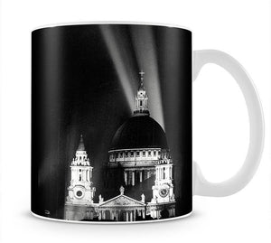 St Pauls floodlight on VE Day Mug - Canvas Art Rocks - 1