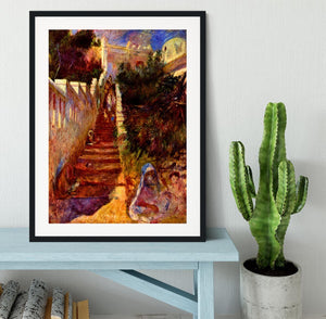 Stairs in Algier by Renoir Framed Print - Canvas Art Rocks - 1